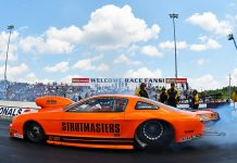 Johnny Pluchino will continue to receive sponsorship support from Strutmasters.com this year. (Ron Lewis Photo)