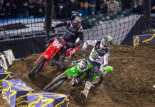 Eli Tomac (3) races under Ken Roczen. (Feld photo)