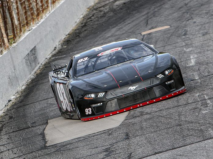 Ray Christian III in action at Hickory Motor Speedway last season. (Adam Fenwick Photo)