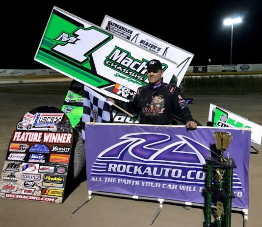 Mark Smith in USCS victory lane. (USCS photo)