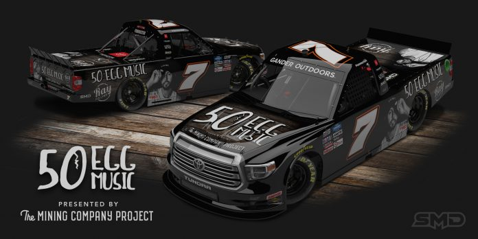 50 Egg Music and The Mining Company Project will support Korbin Forrister and All Out Motorsports at Daytona Int'l Speedway.