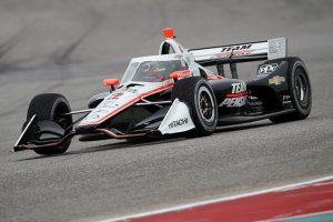 Scott McLaughlin made his Indy car debut during the Circuit of the Americas test. (IndyCar Photo)