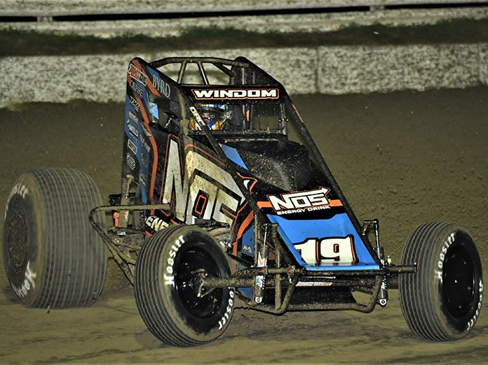 Chris Windom was fastest in Wednesday's USAC AMSOIL National Sprint Car Series practice at Bubba Raceway Park. (Al Steinberg Photo)