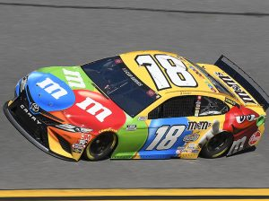 Kyle Busch at speed at Daytona Int'l Speedway. (Toyota Photo)