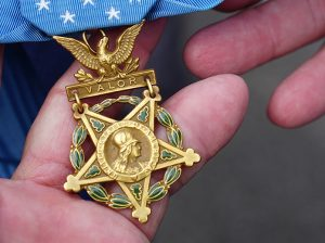 David Bellavia's Medal of Honor. (Bruce Martin Photo)