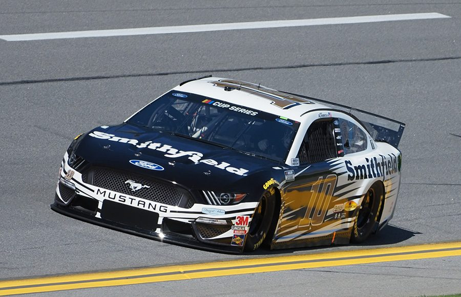 Starting fifth in his 10th Daytona 500, Aric Almirola in the No. 10 Stewart-Haas Racing Ford. (Dave Moulthrop Photo)