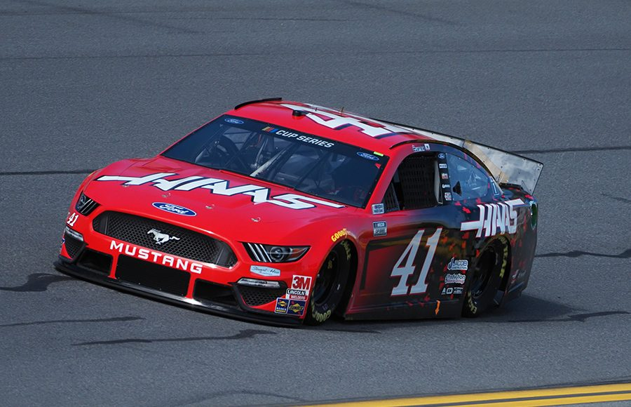 Starting 12th in his first Daytona 500, Cole Custer in the No. 41 Stewart-Haas Racing Ford. (Dave Moulthrop Photo)