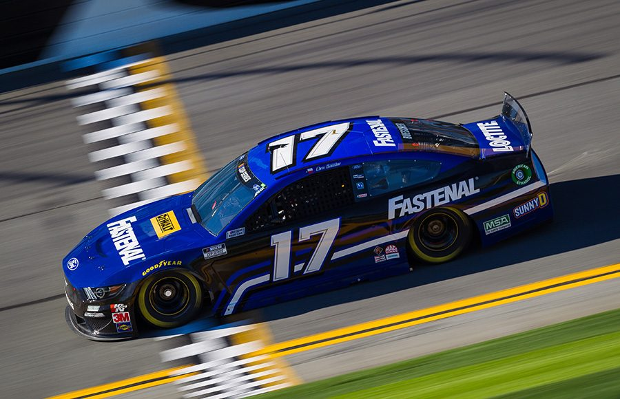 Starting 19th in his fifth Daytona 500, Chris Buescher in the No. 17 Roush Fenway Racing Ford. (HHP/Chris Owens Photo)