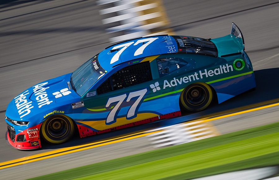 Starting 20th in his second Daytona 500, Ross Chastain in the No. 77 Spire Motorsports Chevrolet. (HHP/Chris Owens Photo)