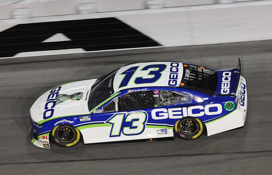 Starting 24th in his sixth Daytona 500, Ty Dillon in the No. 13 Germain Racing Chevrolet. (Dave Moulthrop Photo)