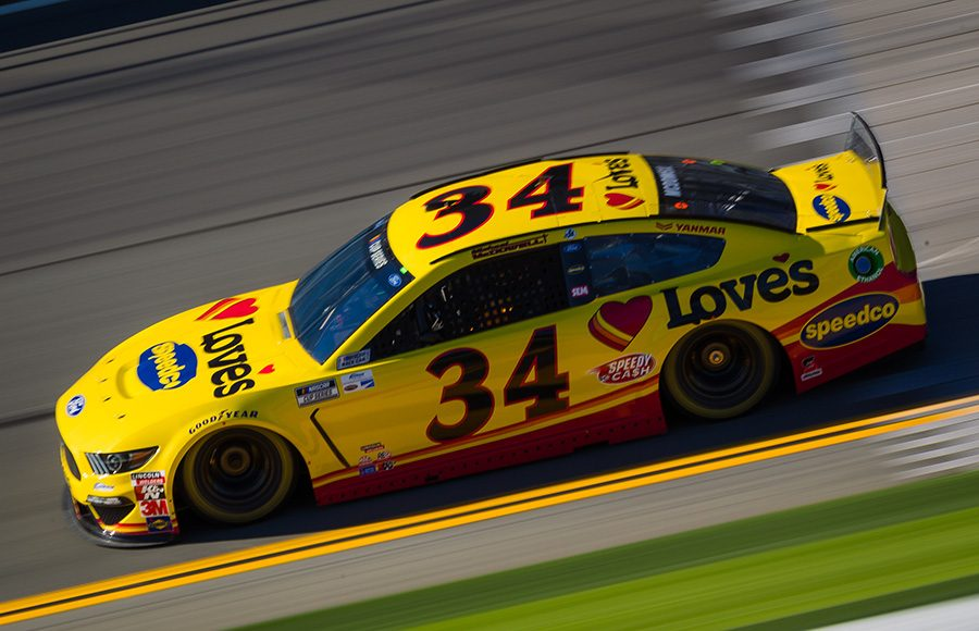 Starting 26th in his ninth Daytona 500, Michael McDowell in the No. 34 Front Row Motorsports Ford. (HHP/Chris Owens Photo)