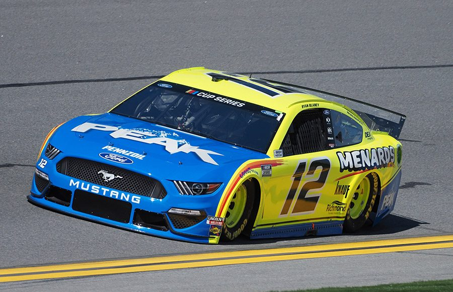 Starting 27th in his sixth Daytona 500, Ryan Blaney in the No. 12 Team Penske Ford. (Dave Moulthrop Photo)