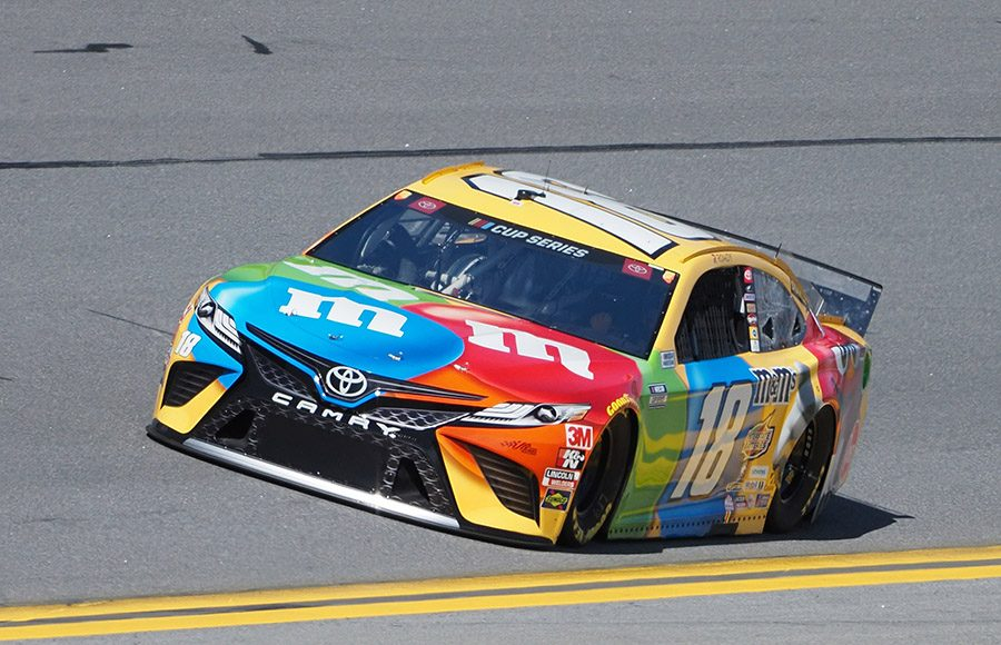 Starting 28th in his 15th Daytona 500, Kyle Busch in the No. 18 Joe Gibbs Racing Toyota. (Dave Moulthrop Photo)