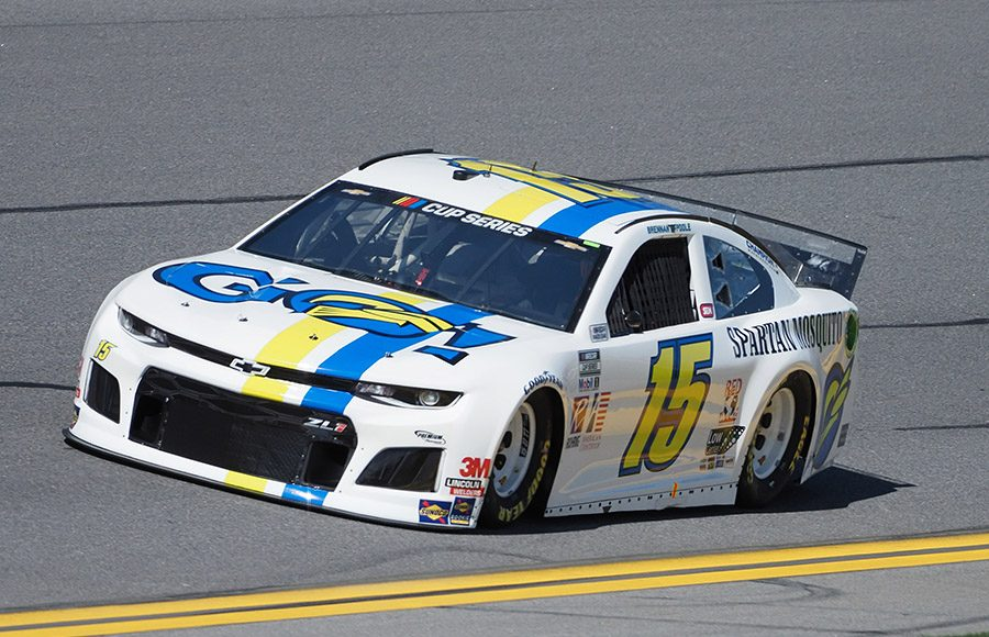 Starting 34th in his first Daytona 500, Brennan Poole in the No. 15 Premium Motorsports Chevrolet. (Dave Moulthrop Photo)