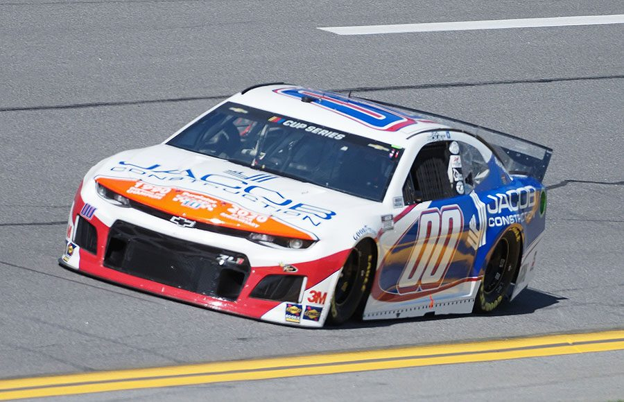 Starting 35th in his first Daytona 500, Quin Houff in the No. 00 StarCom Racing Chevrolet. (Dave Moulthrop Photo)