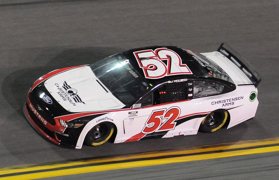 Starting 38th in his second Daytona 500, B.J. McLeod in the No. 52 Rick Ware Racing Ford. (Dave Moulthrop Photo)