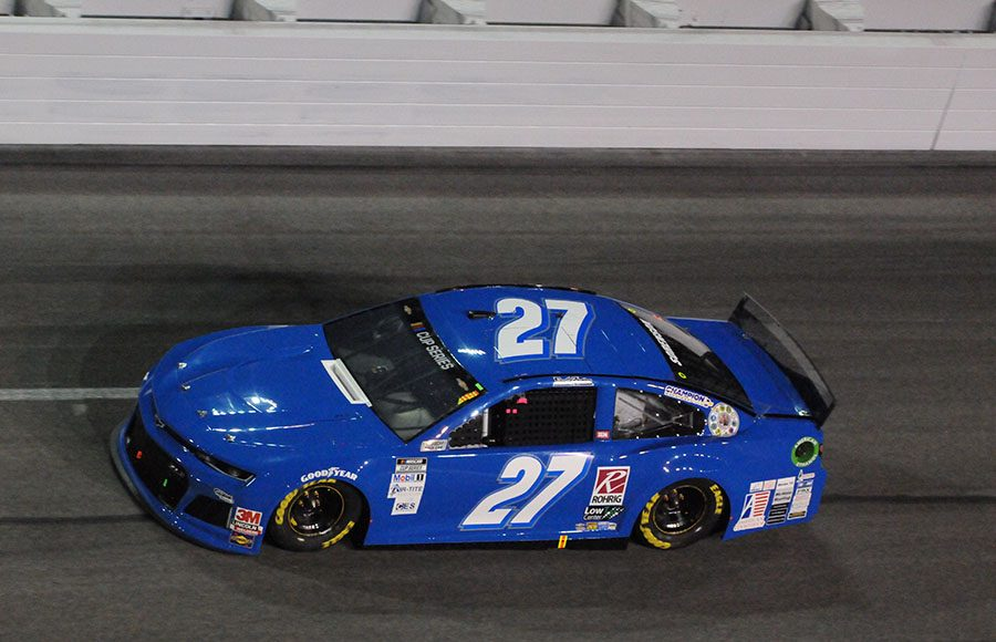 Starting 40th in his seventh Daytona 500, Reed Sorenson in the No. 27 Premium Motorsports Chevrolet. (Dave Moulthrop Photo)