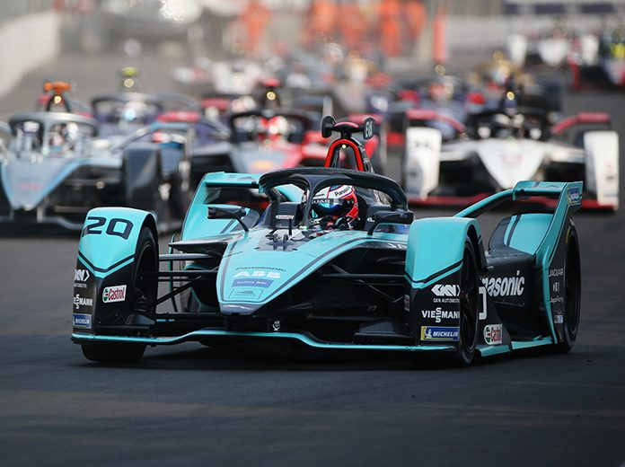 Mitch Evans raced to a dominant victory in Saturday's Formula E event in Mexico City. (Formula E Photo)