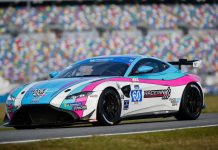 KohR Motorsports finally had a reason to celebrate this year at Daytona Int'l Speedway. (IMSA Photo)
