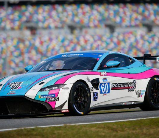 KohR Motorsports finally had a reason to celebrate this year at Daytona Int'l Speedway. (IMSA Photo)