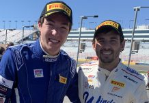 Colin Mullan (left) and Jarett Andretti (right) will co-drive the No. 36 Window World-MI Windows and Doors McLaren during Pirelli GT4 America Sprint X events.