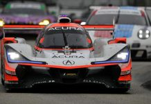 Team Penske's Acura Motorsports team tested at Sebring Int'l Raceway in advance of the Twelve Hours of Sebring. (IMSA Photo)