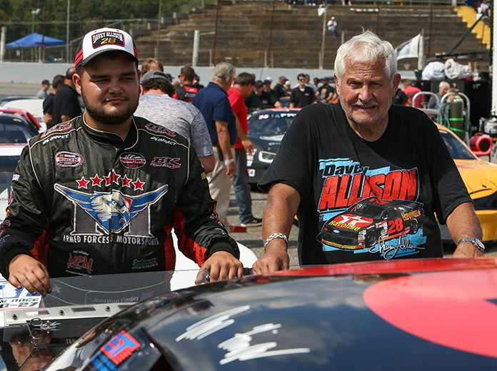 Jonathan Findley (left), pictured here with his grandfather John Findley, has joined Lee Faulk Racing and Development to pursue the CARS Late Model Stock Tour title. (Adam Fenwick Photo)