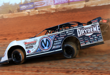 Chris Madden will lead the Drydene Xtreme DIRTcar Series into the series finale on Feb. 29 at Modoc Raceway. (Richard Barnes Photo)