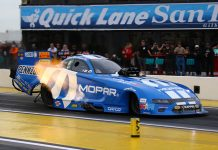 Matt Hagan is in the No. 1 spot so far during qualifying for the NHRA Arizona Nationals. (Ivan Veldhuizen Photo)