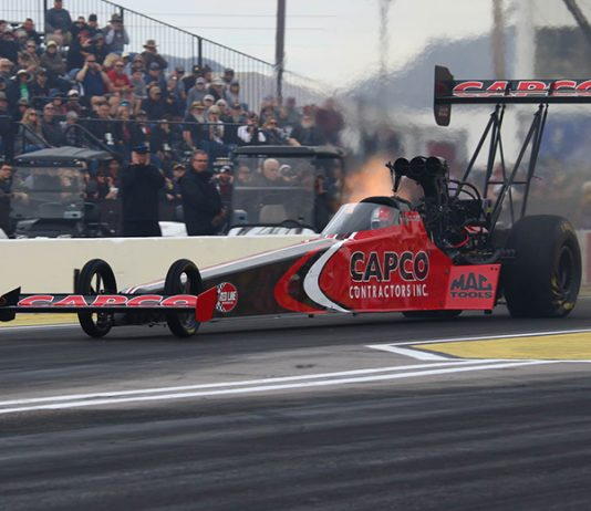 Steve Torrence powered to victory in Sunday's NHRA Arizona Nationals at Wild Horse Pass Motorsports Park. (Ivan Veldhuizen Photo0