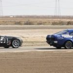 Aaron Downey leads Glen McCready to the finish line Sunday at the Buttonwillow Raceway Park Hoosier Super Tour to claim the win in E Production. (Marcelo Slamon Photo)