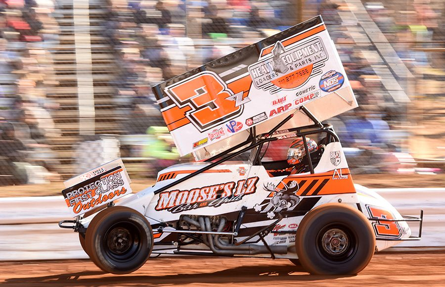Brock Zearfoss during Saturday's Ice Breaker event at Lincoln Speedway. (Paul Arch Photo)