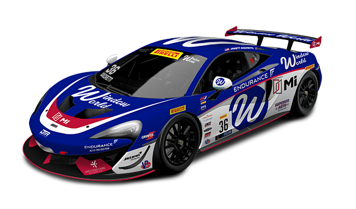 Jarett Andretti will have sponsorship from MI Windows and Doors during the GT4 America season.