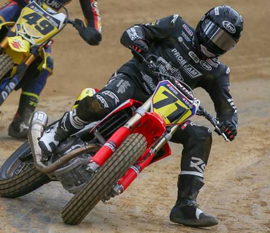 James Rispoli will have sponsorship from ProBEAM this year in American Flat Track competition. (Scott Hunter/AFT Photo)