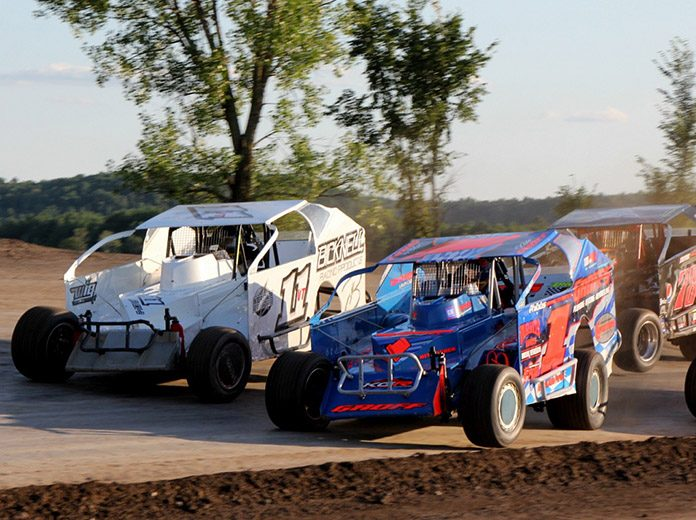The King of Dirt Racing Crate Modified Series will compete at The Flat Track at New Hampshire Motor Speedway in September. (Alan Ward Photo)