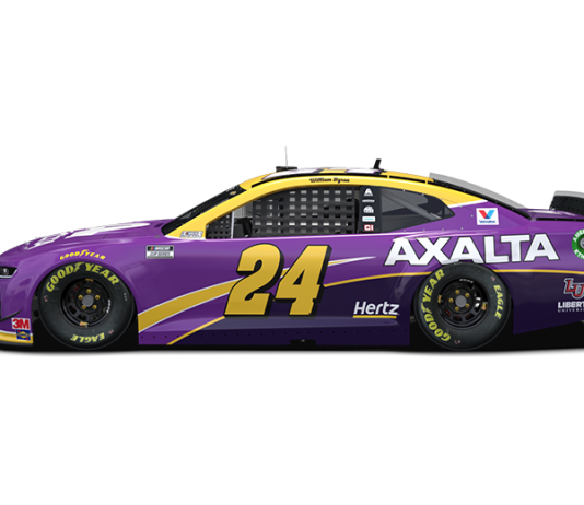 William Byron's No. 24 Chevrolet will pay tribute to the late Kobe Bryant this weekend at Auto Club Speedway.
