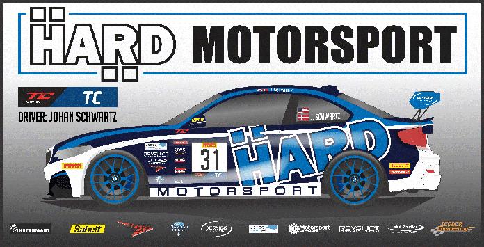 Hard Motorsport will field an entry for Johan Schwartz in the SRO TC America series.
