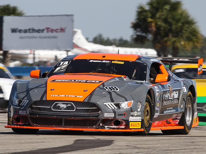 Ernie Francis Jr. raced to the top spot in Trans-Am Series qualifying on Saturday at Sebring Int'l Raceway.