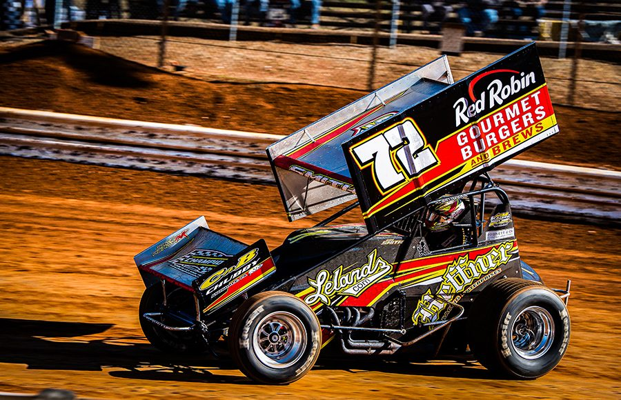 Ryan Smith in action Sunday afternoon at Lincoln Speedway. (Shawn Cooper Photo)
