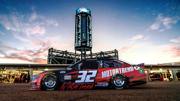 MotorTrend will sponsor Go Fas Racing and Corey LaJoie this weekend at Phoenix Raceway.
