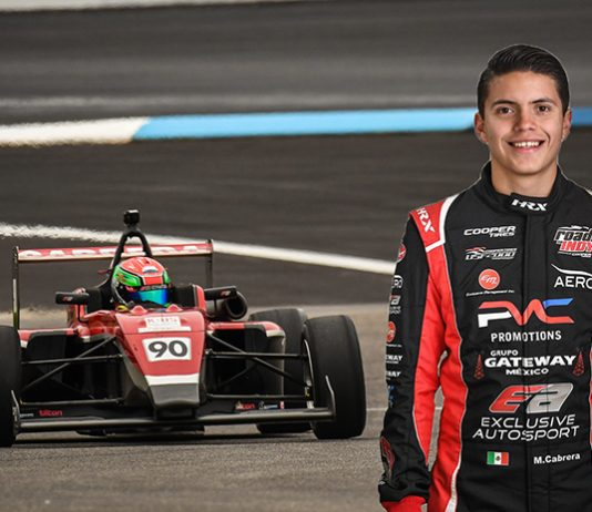 Manuel Cabrera will be back with Exclusive Autosport to compete in the Cooper Tires USF2000 Championship.