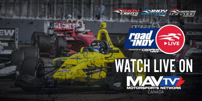 The trio of Road to Indy divisions will be televised on MAVTV Canada this year.