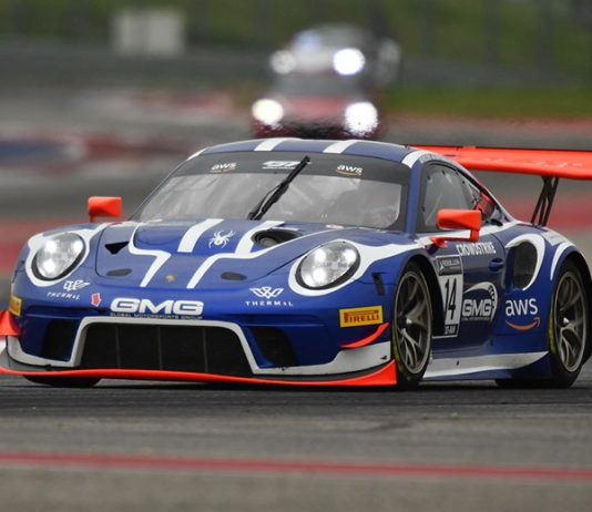James Sofronas earned the pole for the first of two GT Challenge America races at Circuit of the Americas.