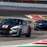 Drew Staveley (12) powered to the pole for Saturday's Pirelli GT4 America Sprint race at Circuit of the Americas.