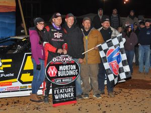 Mike Marlar in victory lane Saturday at Smoky Mountain Speedway. (Michael Moats Photo)