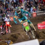 Eli Tomac en route to victory at Daytona Int'l Speedway. (Feld photo)