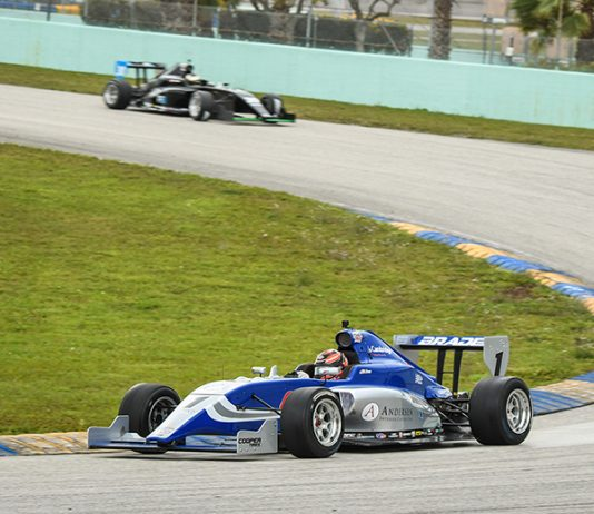 Braden Eves was fastest during the Indy Pro 2000 portion of Road to Indy Spring Training at Homestead-Miami Speedway.