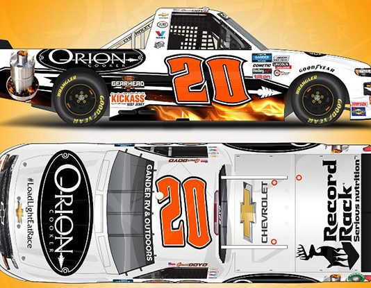 Orion Cooker will sponsor Spencer Boyd on Saturday at Atlanta Motor Speedway.