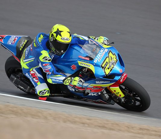 Toni Elias was fastest on the opening day of MotoAmerica testing at Barber Motorsports Park. (Brian J. Nelson Photo)