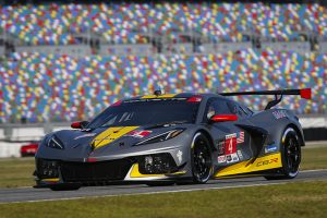 The No. 4 Corvette CR-8 shared by Oliver Gavin, Tommy Milner and Marcel Fassler during the Rolex 24. (IMSA photo)